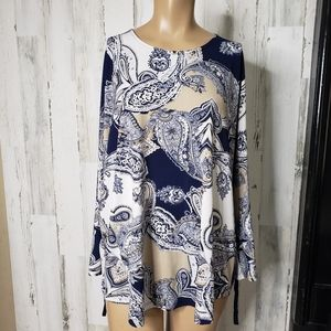 Allison Dailey Blue and Black Shirt Size 1X
